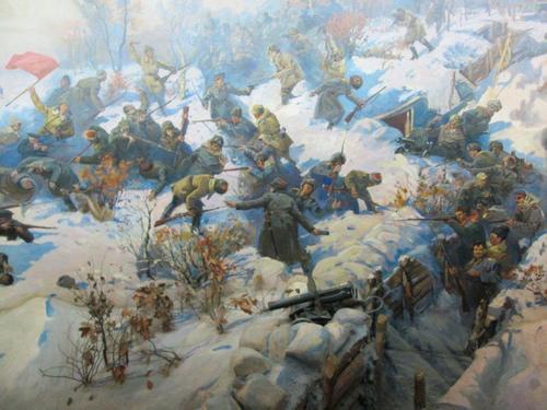 Фрагмент от художествената панорама, отразяваща победата на Червената армия при Волочаевка