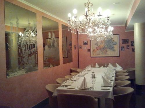 в Москва, мястото, където вечеряхме