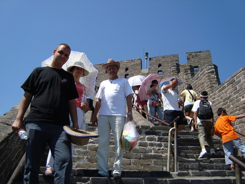 със Симо и Стани пред наблюдателната кула