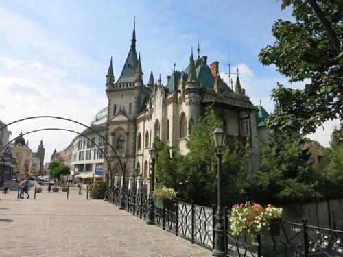 Кошице, красива сграда, която е била дом на известен унгарски строител от града