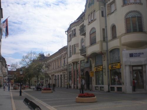 Суботица, снимка от пешеходната зона