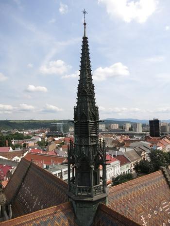Кошице, поглед от камбанарията на катедралата