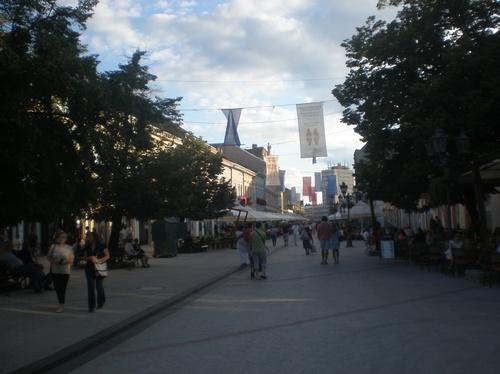 Нови Сад, поглед към пешеходната зона