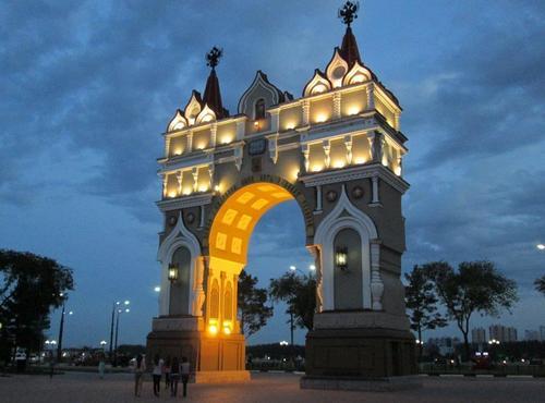 Триумфалната арка в Благовещенск