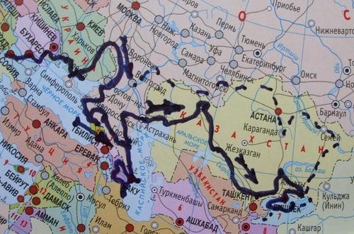 Маршрутът до Средна Азия през 2015 година