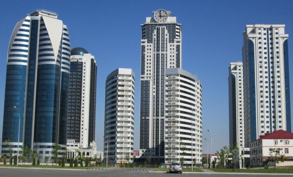 Грозни-сити с бизнес-офиси, хотел и жилищни сгради