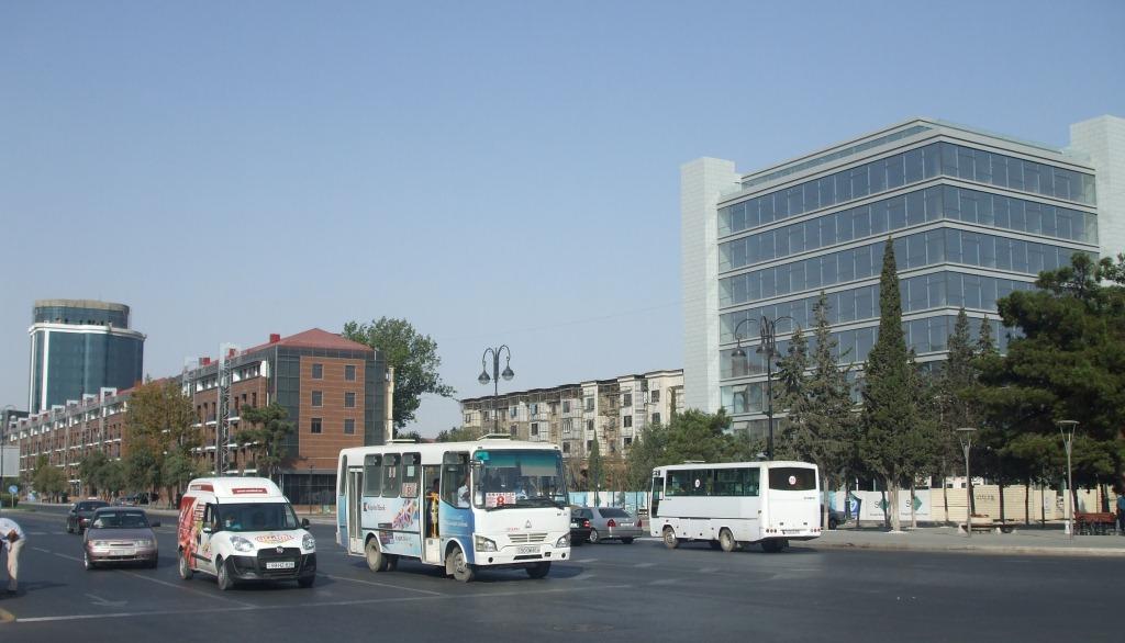 Един от централните булеварди на Сумгаит