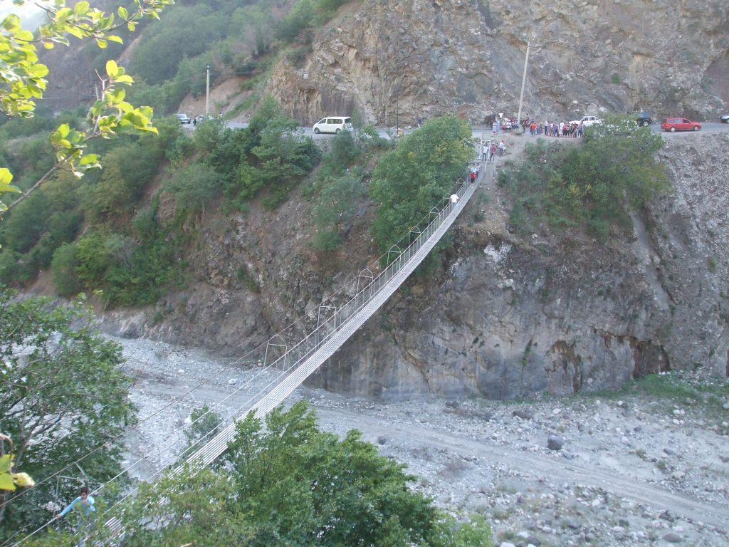 За преминаването по този въжен мост се плащаше такса